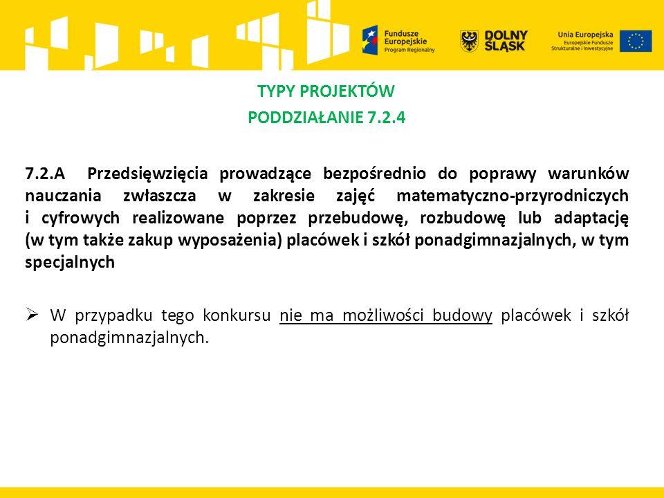 POMOC PUBLICZNA/POMOC DE MINIMIS Co do zasady, w przypadku działania 7.2 i 7.1 nie ma przesłanek do wystąpienia pomocy publicznej.