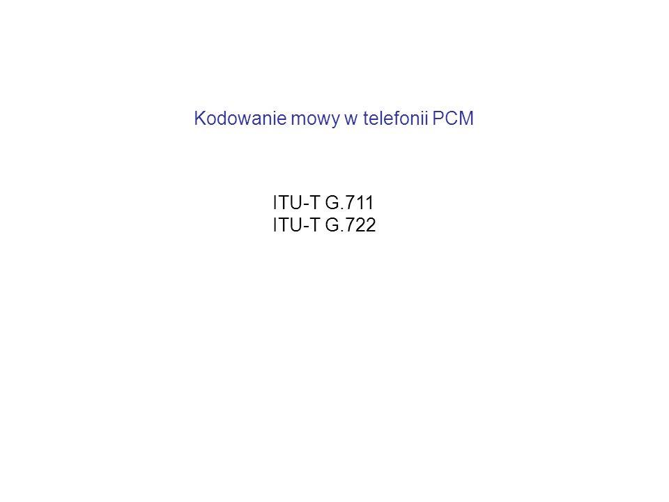 Kodowanie mowy w telefonii PCM ITU-T G.711 ITU-T G.722