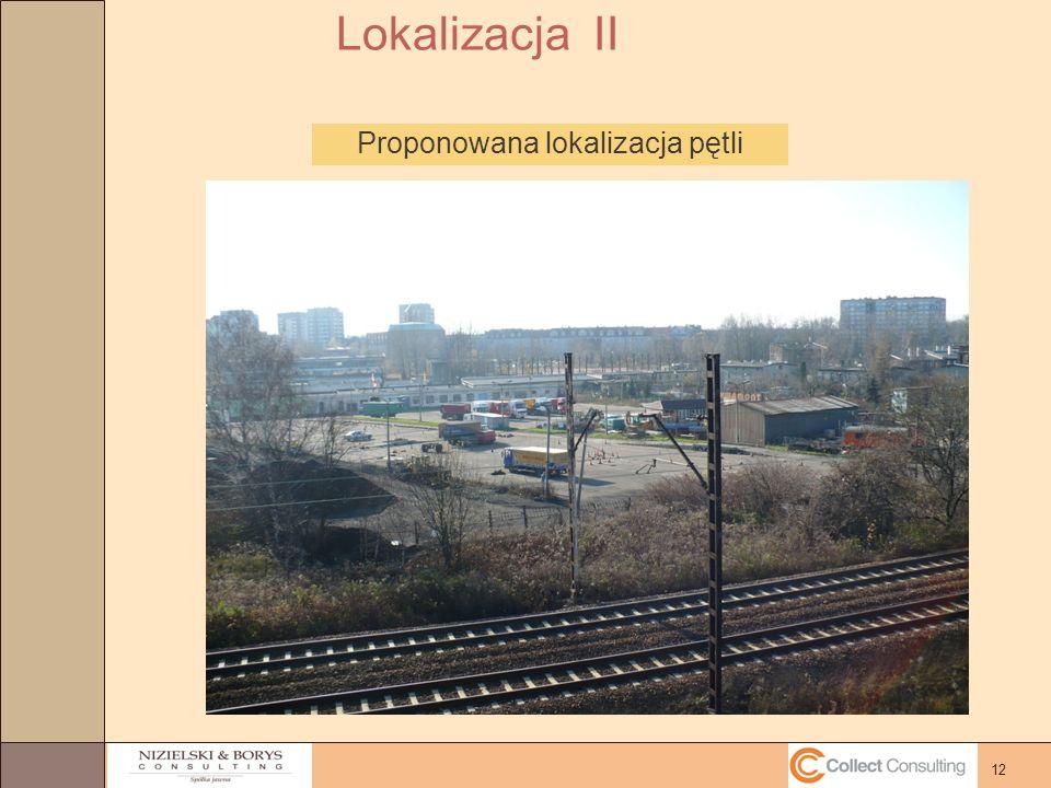 12 Proponowana lokalizacja pętli Lokalizacja II