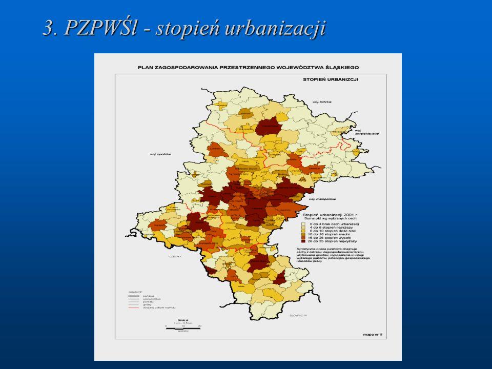 3. PZPWŚl - stopień urbanizacji