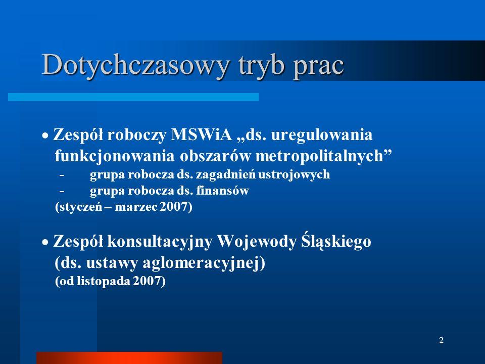 """2 Dotychczasowy tryb prac  Zespół roboczy MSWiA """"ds."""