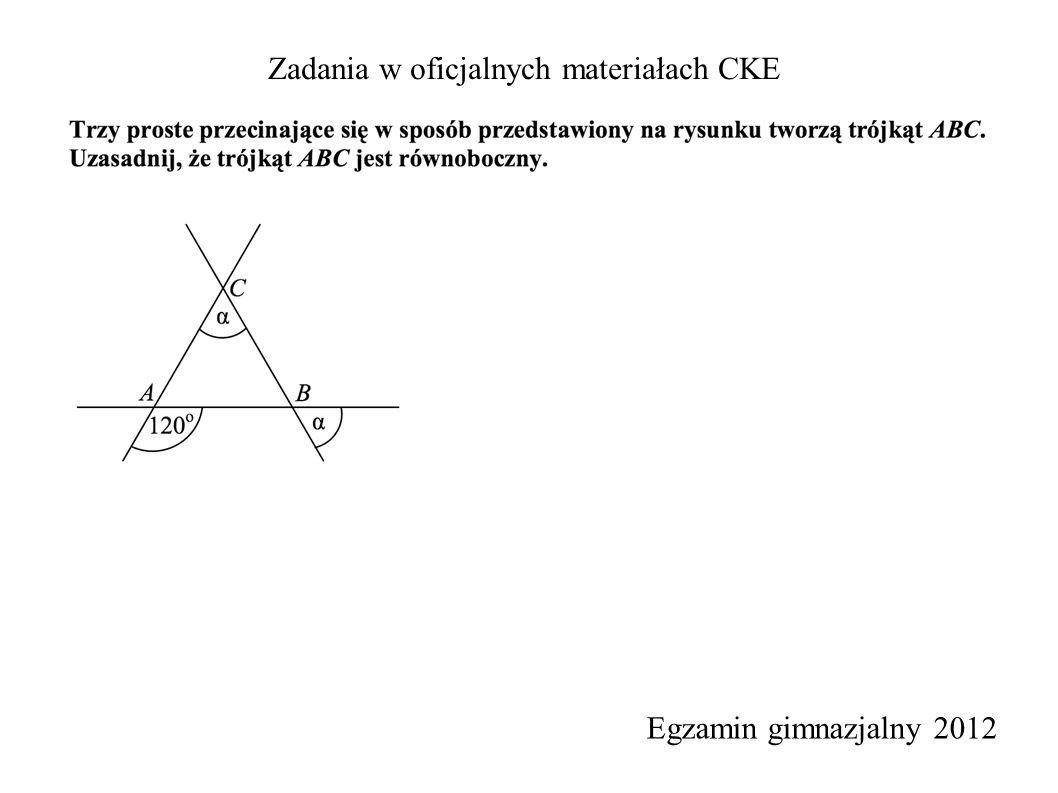 Zadania w oficjalnych materiałach CKE Egzamin gimnazjalny 2012