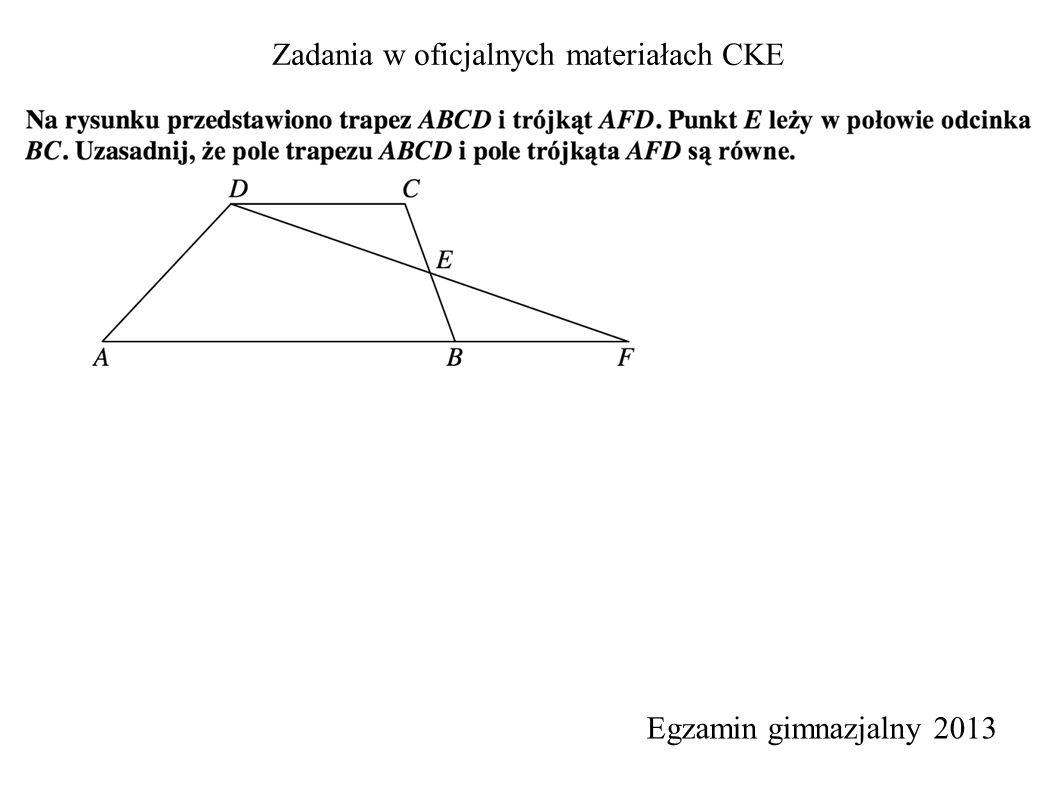 Zadania w oficjalnych materiałach CKE Egzamin gimnazjalny 2013