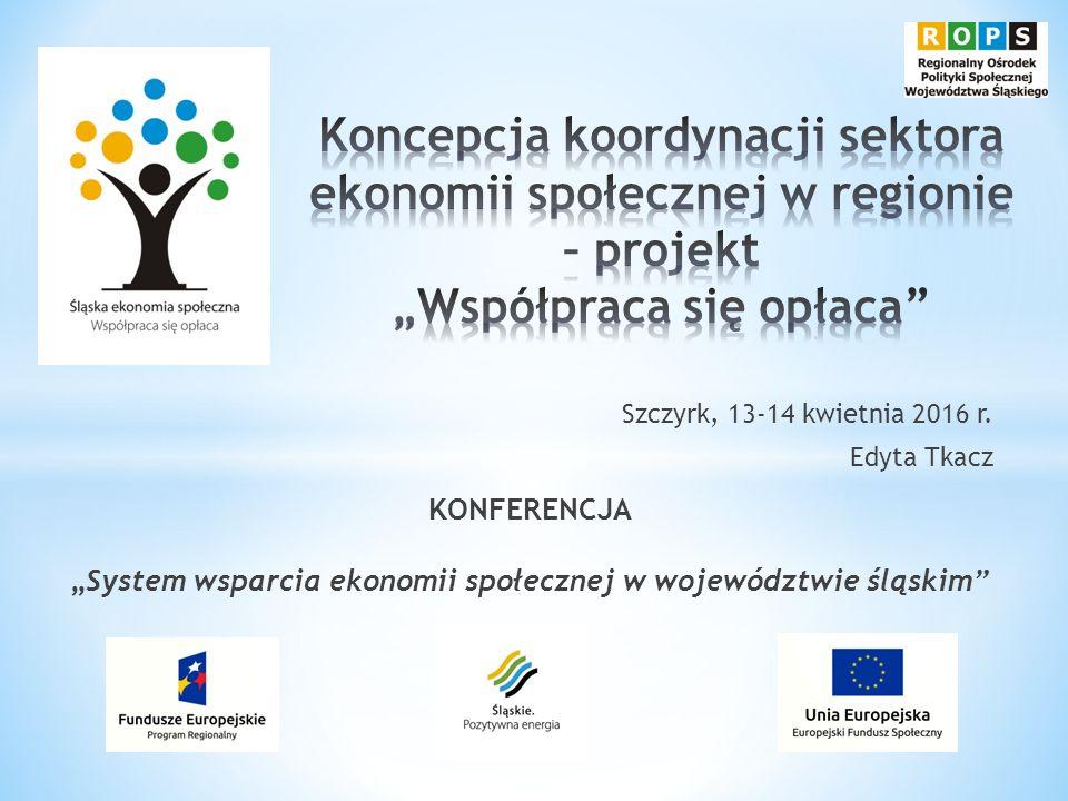 Lider: Centrum Społecznego Rozwoju w Łaziskach Górnych Partnerzy: * Miasto Dąbrowa Górnicza/Inkubator, * Miasto Gliwice/Gliwickie Centrum Organizacji Pozarządowych, * Ośrodek Wspierania Inicjatyw Lokalnych, * Fundacja Rozwoju Ekonomii Społecznej.