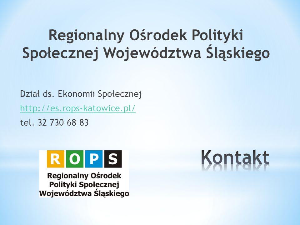 Regionalny Ośrodek Polityki Społecznej Województwa Śląskiego Dział ds.