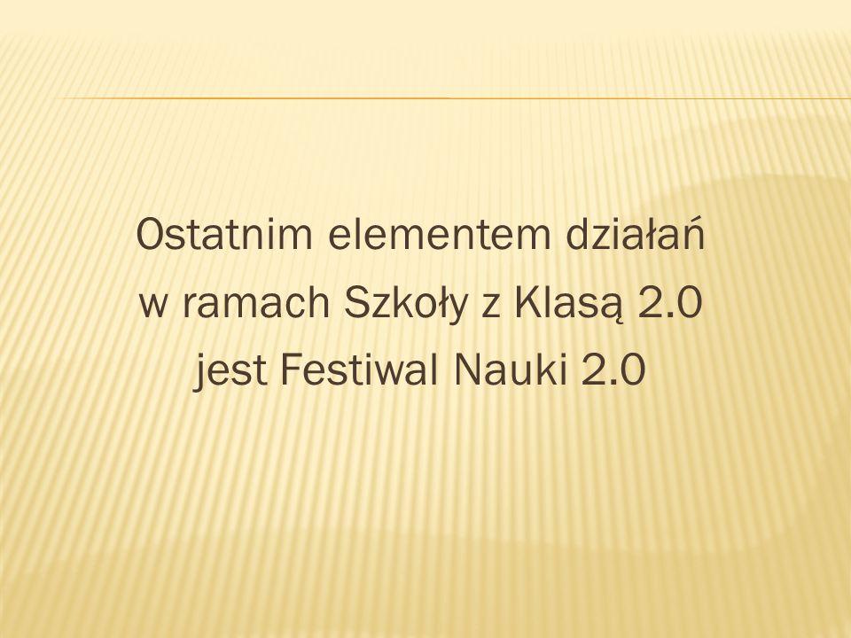 Ostatnim elementem działań w ramach Szkoły z Klasą 2.0 jest Festiwal Nauki 2.0