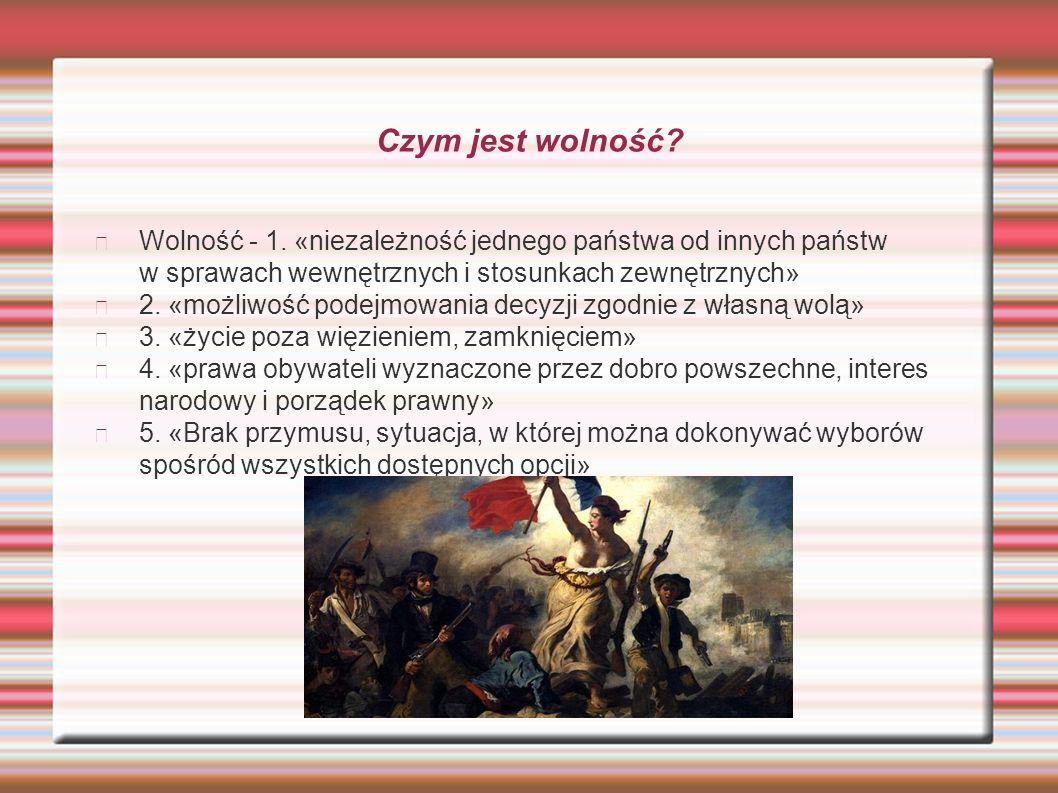 """""""Rodzaje wolności wolność osobista słowawyznaniaobywatelska"""