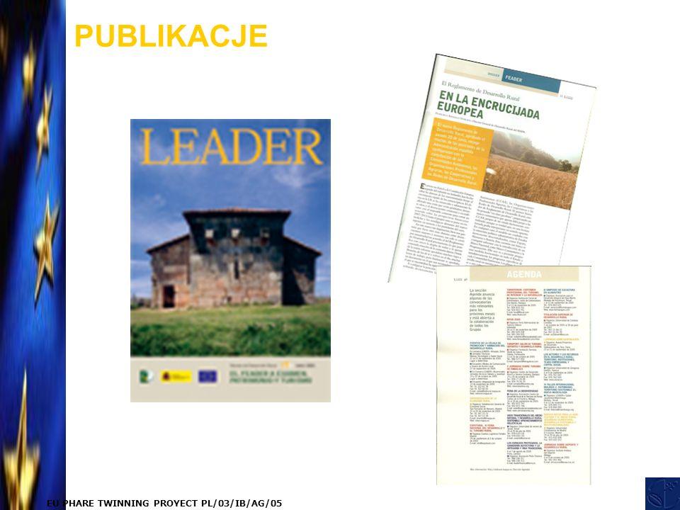EU PHARE TWINNING PROYECT PL/03/IB/AG/05 PUBLIKACJE