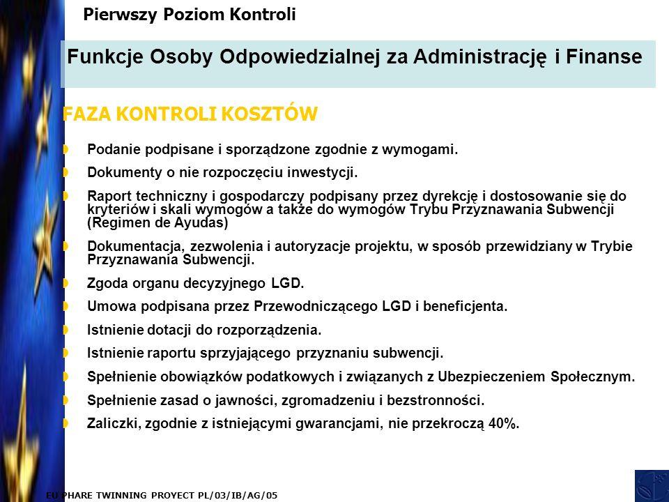 EU PHARE TWINNING PROYECT PL/03/IB/AG/05  Podanie podpisane i sporządzone zgodnie z wymogami.