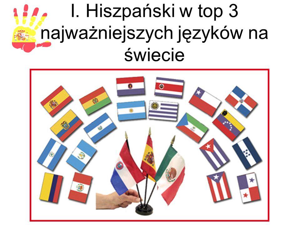 I. Hiszpański w top 3 najważniejszych języków na świecie