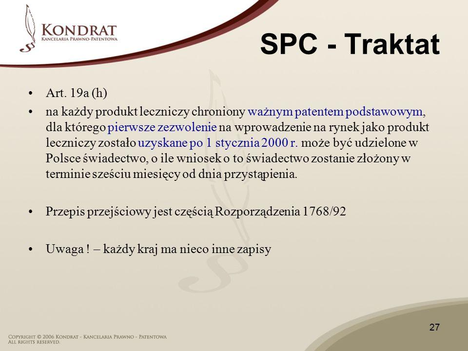 27 SPC - Traktat Art.