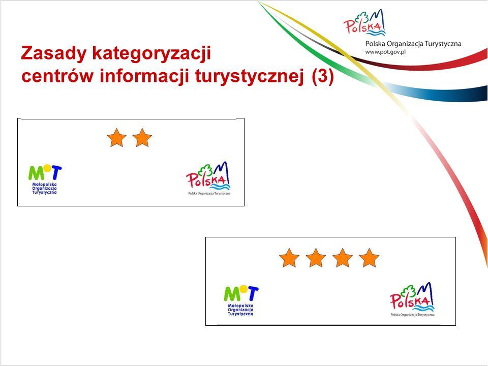 Zasady kategoryzacji centrów informacji turystycznej (3)