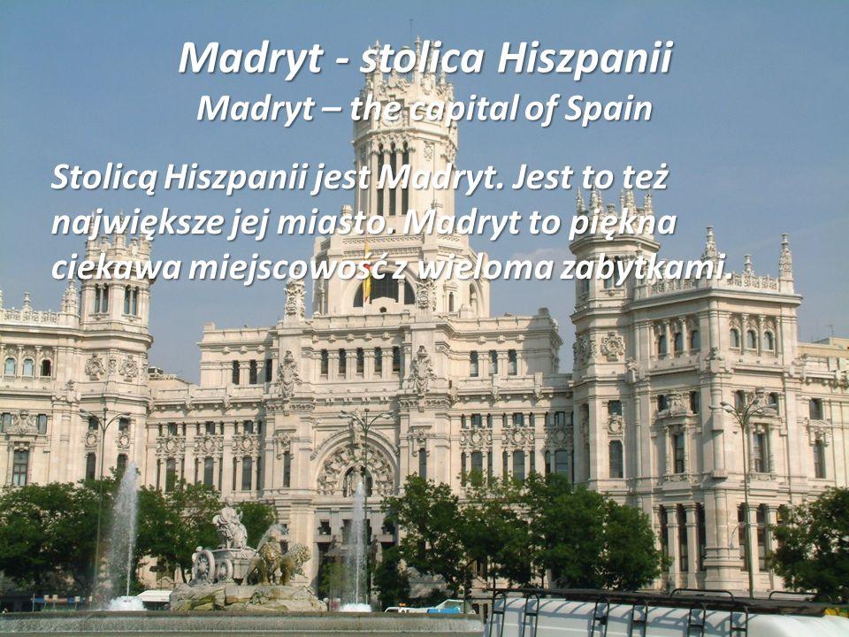O Hiszpani About Spain Wielu osobom i mnie Hiszpania kojarzy się ze słoneczną plażą, jest to kraj położony na Półwyspie Iberyjskim. Jego stolicą jest