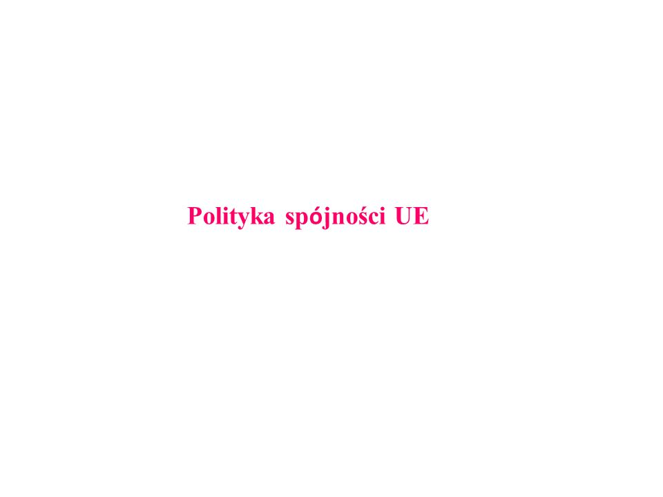 Polityka sp ó jności UE