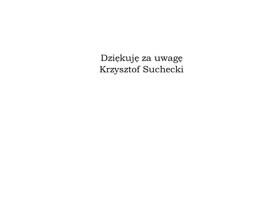 Dziękuję za uwagę Krzysztof Suchecki