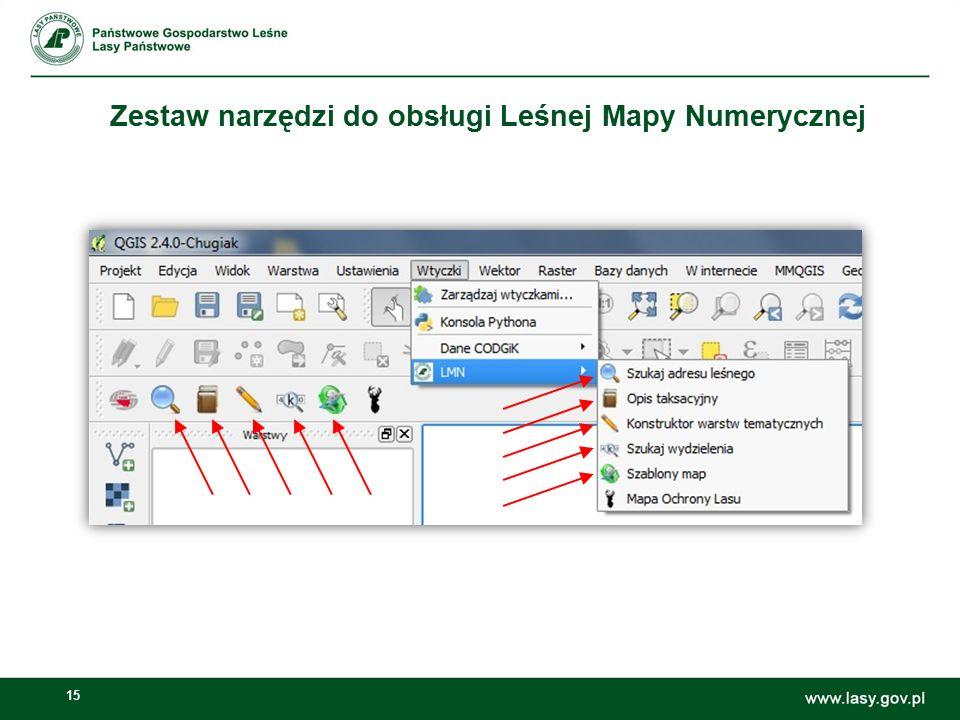 15 Zestaw narzędzi do obsługi Leśnej Mapy Numerycznej