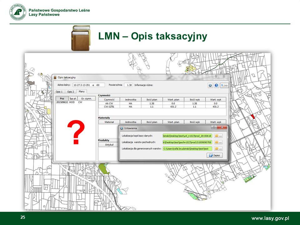 25 LMN – Opis taksacyjny ?