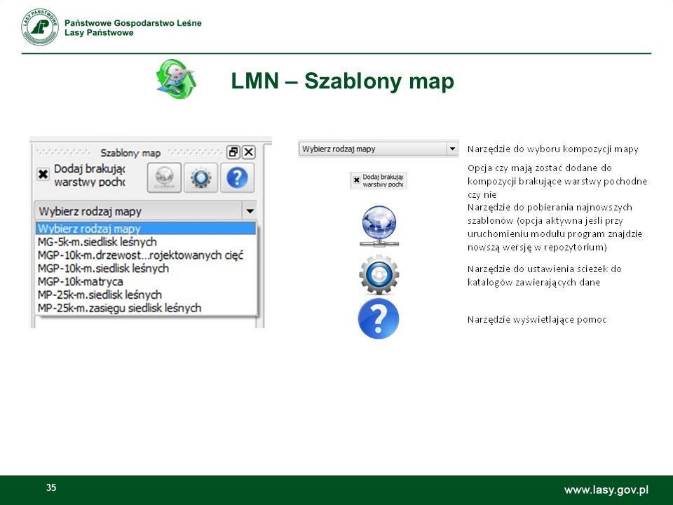 35 LMN – Szablony map