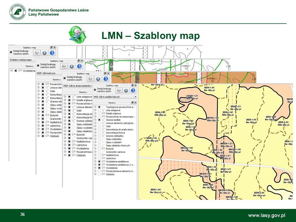 36 LMN – Szablony map