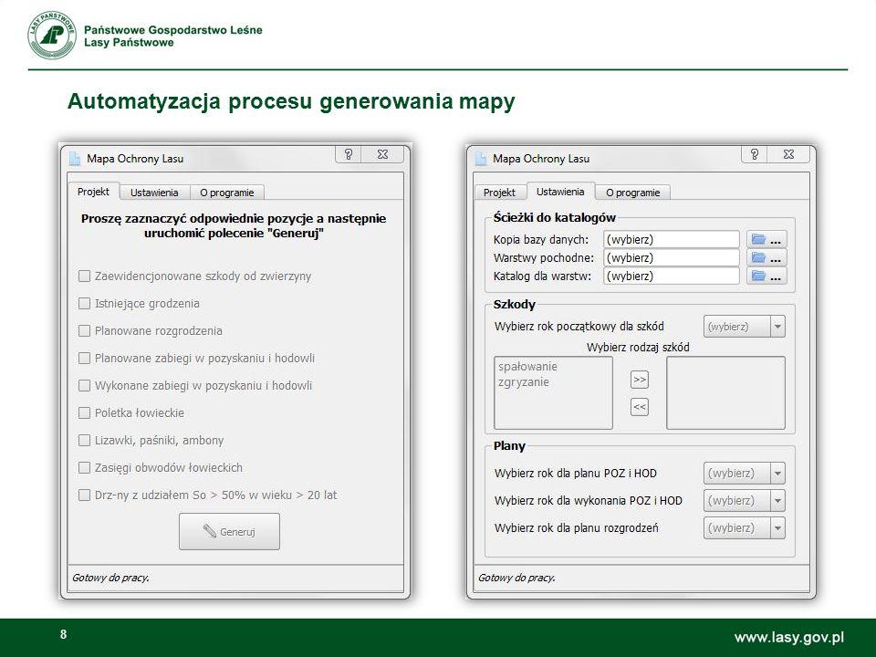 29 LMN – Konstruktor warstw tematycznych Dostępne elementy opisu: -Rodzaj powierzchni -Głowna funkcja -Kategoria ochronności -Cecha drzewostanu