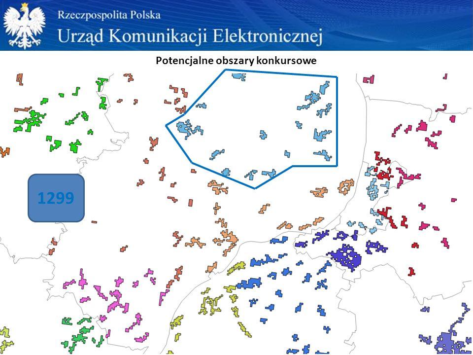 Potencjalne obszary konkursowe 1299