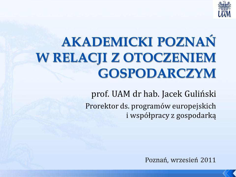 prof. UAM dr hab. Jacek Guliński Prorektor ds.