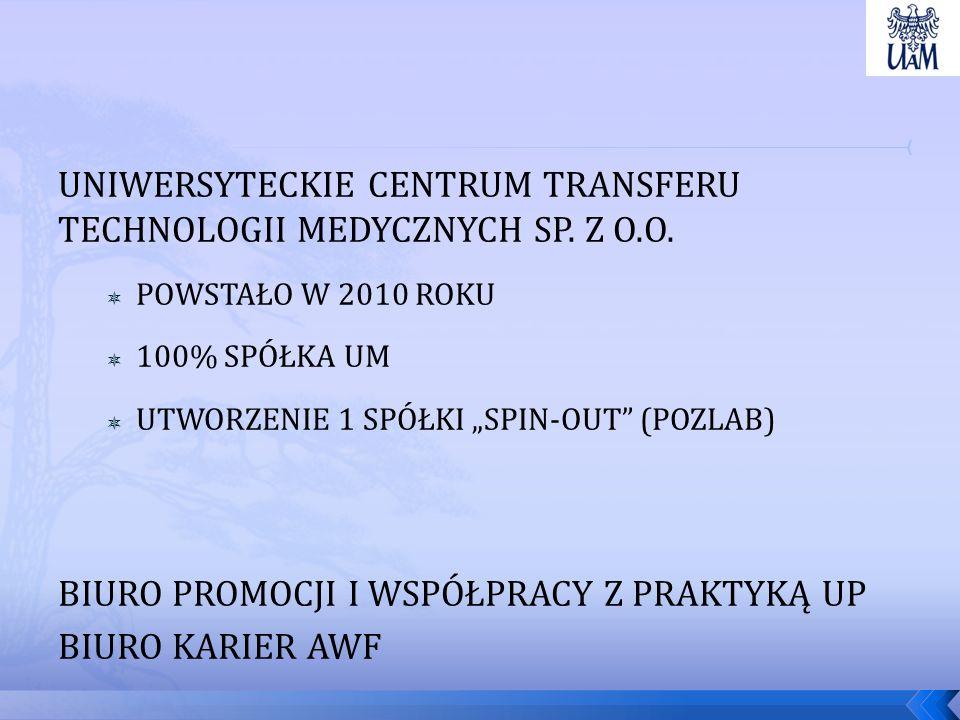 UNIWERSYTECKIE CENTRUM TRANSFERU TECHNOLOGII MEDYCZNYCH SP.