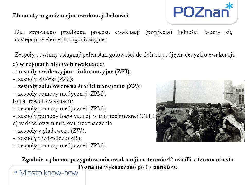 ZEI – prowadzi ewidencję ewakuowanej ludności, jest początkowym ogniwem procesu ewakuacji ludności.