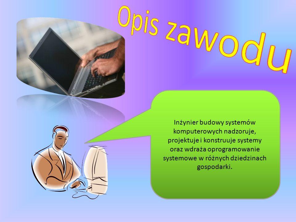 Systemy komputerowe wspomagają rozwój przemysłu.