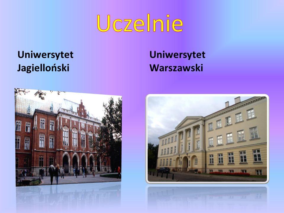 Uniwersytet Jagielloński Uniwersytet Warszawski