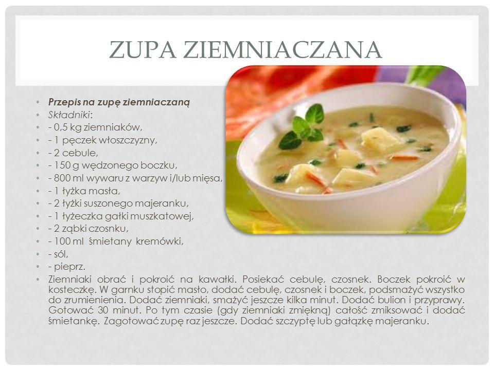 ZUPA PIWNA Przepis na zupę piwną Składniki: - 4 kromki białego chleba, - łyżeczka masła, - 4 żółtka, - 1/2 szklanki cukru, - 200 ml śmietany, - butelka piwa, - kawałek laski cynamonu.