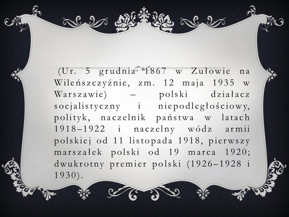 ŚMIERĆ I POGRZEB Piłsudski zmarł w wyniku raka wątroby 12 maja 1935 w swym mieszkaniu w Belwederze.