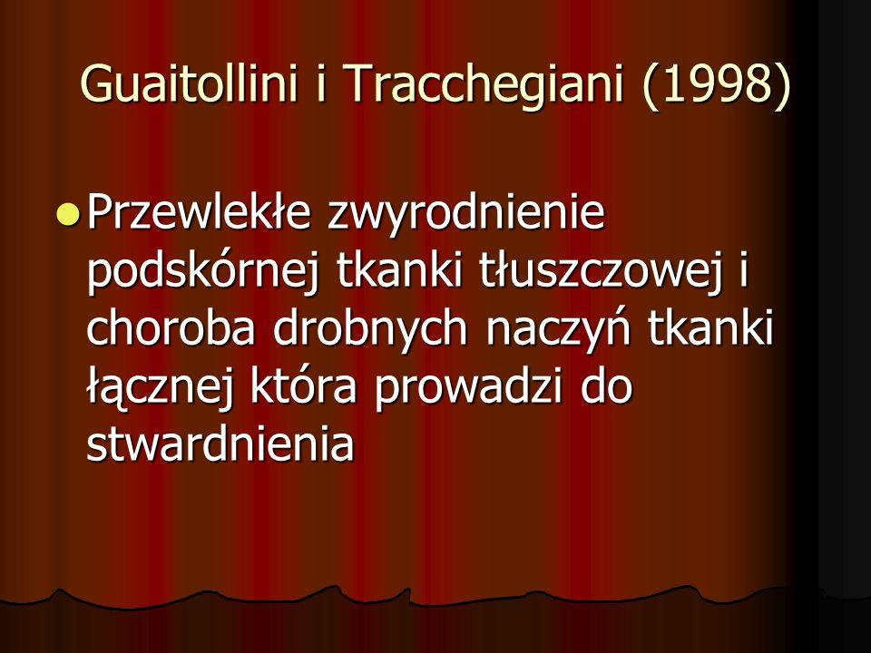 Guaitollini i Tracchegiani (1998) Przewlekłe zwyrodnienie podskórnej tkanki tłuszczowej i choroba drobnych naczyń tkanki łącznej która prowadzi do stw