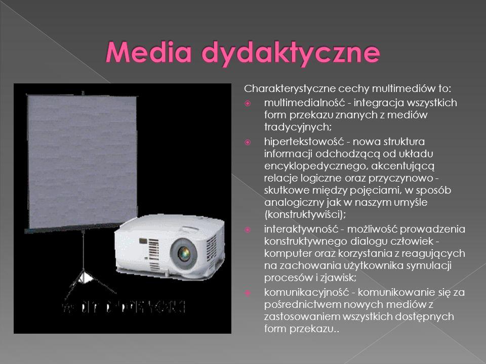 Charakterystyczne cechy multimediów to:  multimedialność - integracja wszystkich form przekazu znanych z mediów tradycyjnych;  hipertekstowość - now