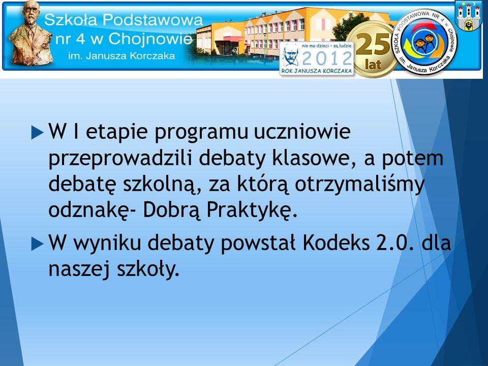 Debaty klasowe w SP 4 Zdjęcia p.Beaty Wawrzeńczyk