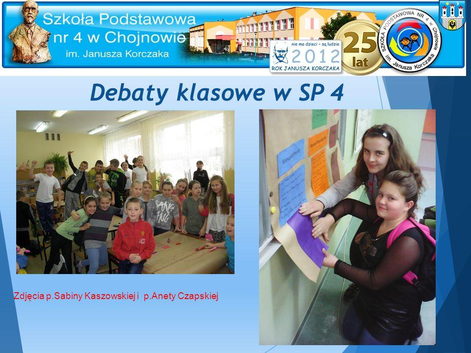 Debaty klasowe w SP 4 Zdjęcia p.Sabiny Kaszowskiej i p.Anety Czapskiej