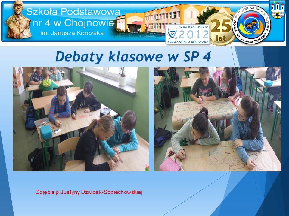 Debaty klasowe w SP 4 Zdjęcia p.Justyny Dziubak-Sobiechowskiej