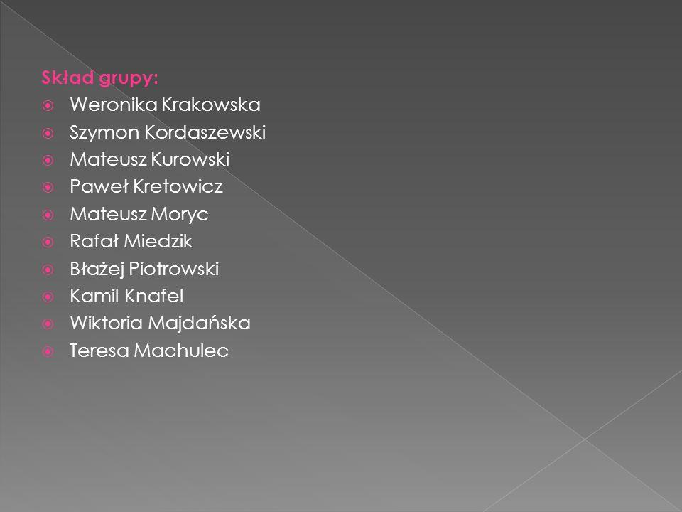 Skład grupy:  Weronika Krakowska  Szymon Kordaszewski  Mateusz Kurowski  Paweł Kretowicz  Mateusz Moryc  Rafał Miedzik  Błażej Piotrowski  Kam