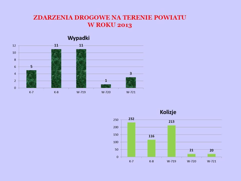 OFIARY ZDARZEŃ DROGOWYCH NA TERENIE POWIATU W 2013 ROKU