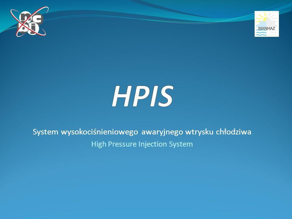 System wysokociśnieniowego awaryjnego wtrysku chłodziwa High Pressure Injection System