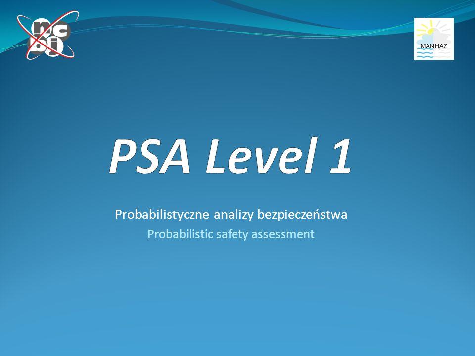 Probabilistyczne analizy bezpieczeństwa Probabilistic safety assessment