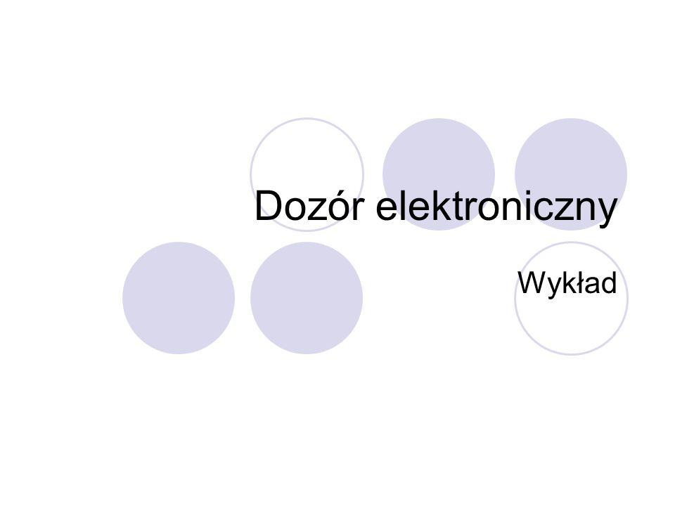 Dozór elektroniczny Wykład