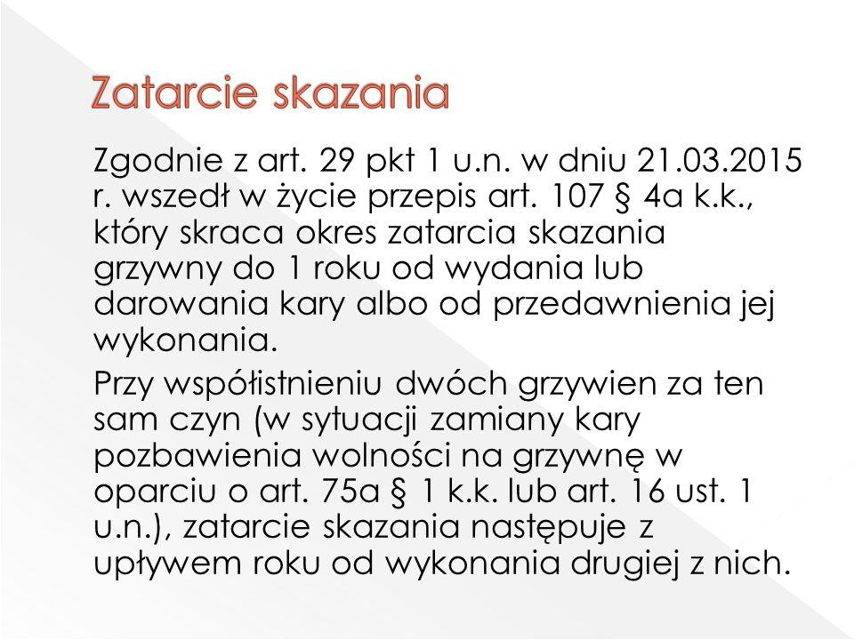 Zgodnie z art. 29 pkt 1 u.n. w dniu 21.03.2015 r.