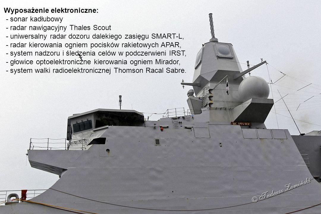 Fregata jest przystosowana do operowania na terenie skażonym bronią atomową, biologiczną lub chemiczną.