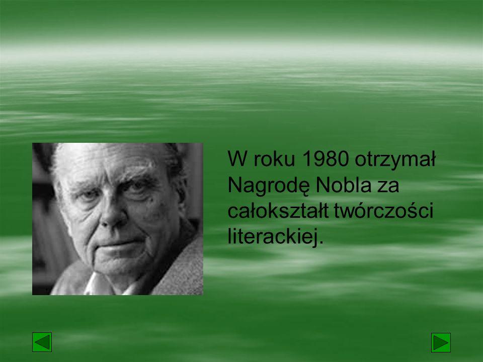 Wydał tomiki poezji:  Ocalenie,  Traktat moralny,  Traktat poetycki,  Gdzie wschodzi słońce i kędy zapada a także wiele książek prozatorskich np.