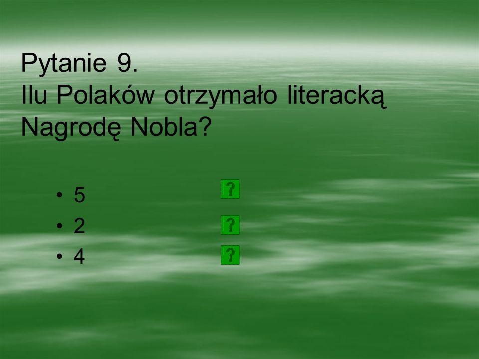 Pytanie 8.Kto otrzymał Nagrodę Nobla w 1996 roku.
