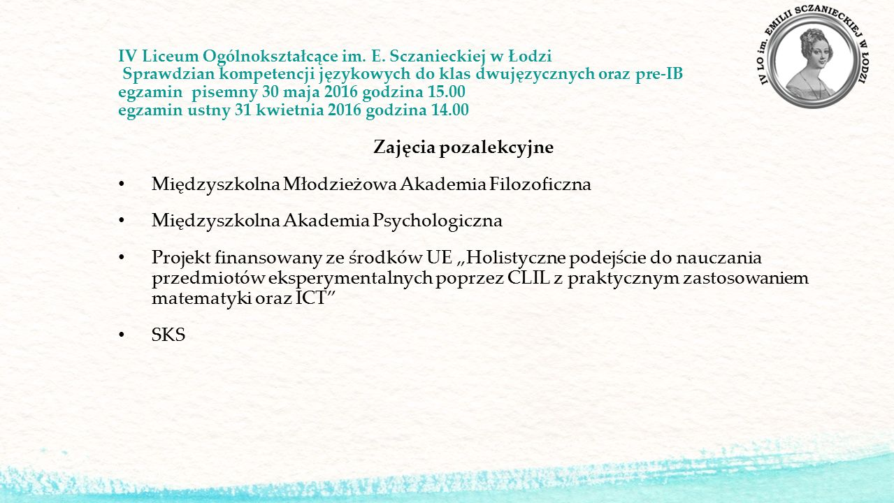 IV Liceum Ogólnokształcące im. E.