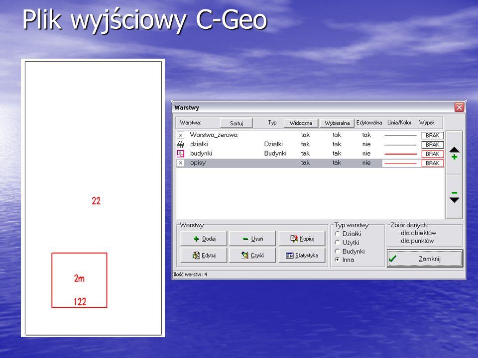 Plik wyjściowy C-Geo