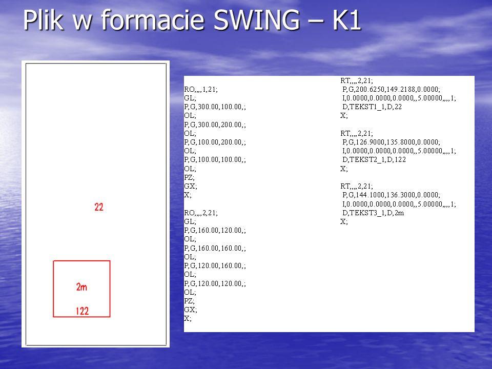Plik w formacie SWING – K1