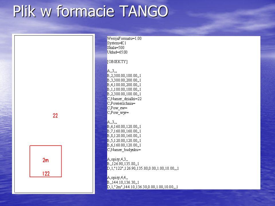 Plik w formacie TANGO